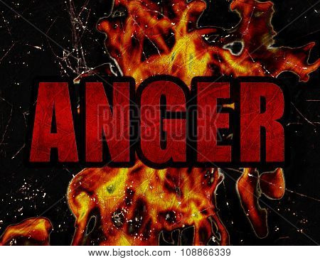 Anger Concept Typographic Design