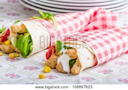 Chicken Tortilla Cones