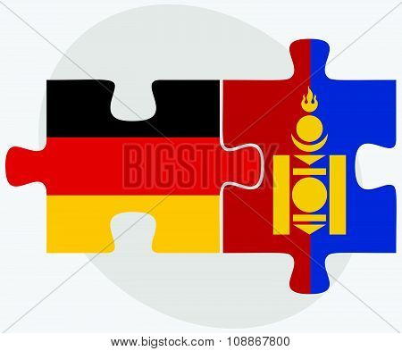Germany And Mongolia Flags