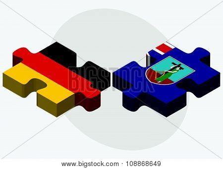 Germany And Montserrat Flags