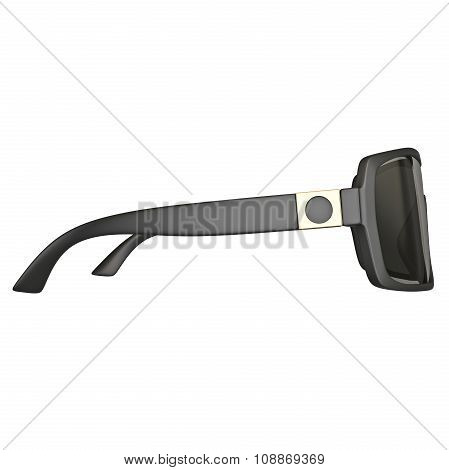 Sunglasses black, side view