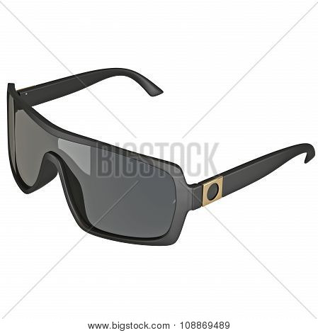 Sunglasses with large glass