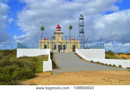 The historical Lighthouse near Lagos in Port
