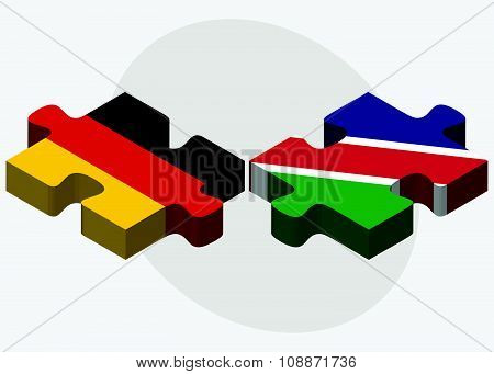 Germany And Namibia Flags