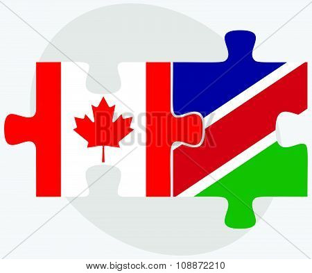Canada And Namibia Flags