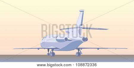Business Jet (bizjet Or Bj). Back  View.