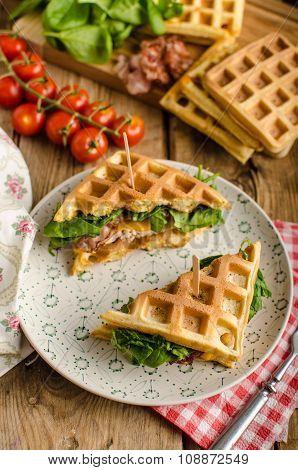 Waffles Sandwich