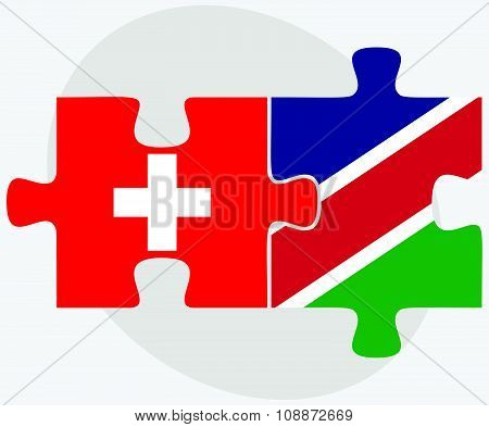 Switzerland And Namibia Flags