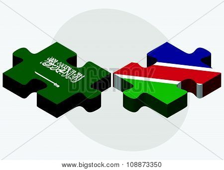 Saudi Arabia And Namibia Flags
