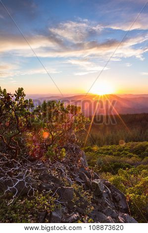 Sunsetting Over The Mountains