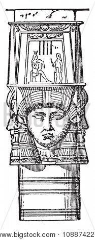 Egyptian capital, vintage engraved illustration. Industrial encyclopedia E.-O. Lami - 1875.
