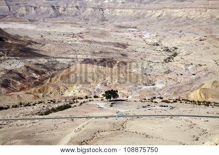 Colored Sand In Makhtesh Katan, Israel