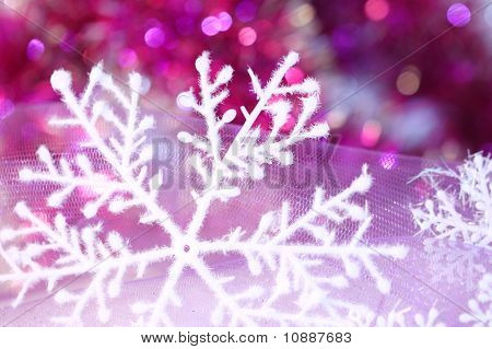 new year or christmas snowflake background