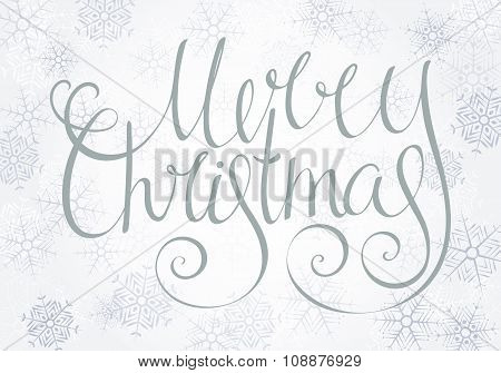 Handdrawn Calligraphic Inscription Merry Christmas