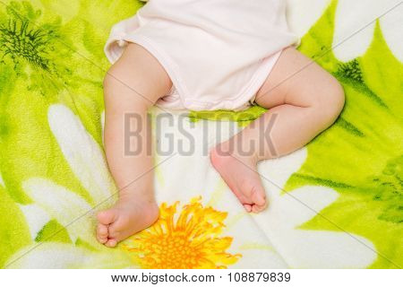 Small Legs Sleeping Baby