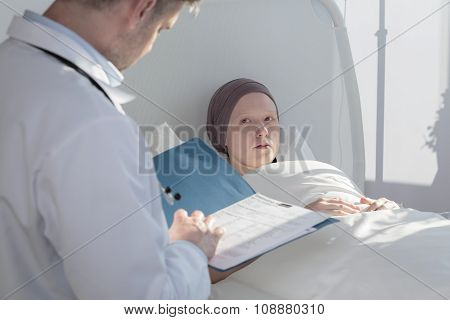 Caring Doctor Analyzing Medical Results