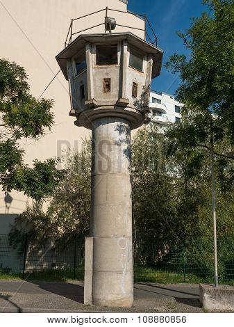 Watchtower Of The East German Border In Berlin