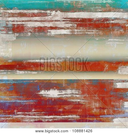 Grunge texture, may be used as retro-style background. With different color patterns: brown; blue; green; red (orange)