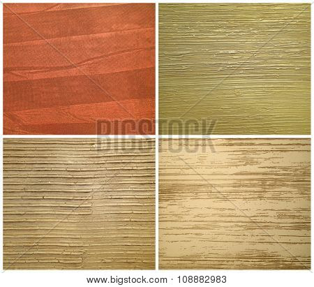 Set Of Textures Of Striped Stucco