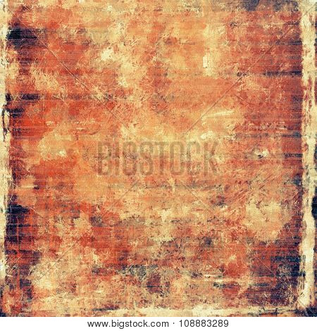 Grunge texture, may be used as retro-style background. With different color patterns: yellow (beige); brown; red (orange); black