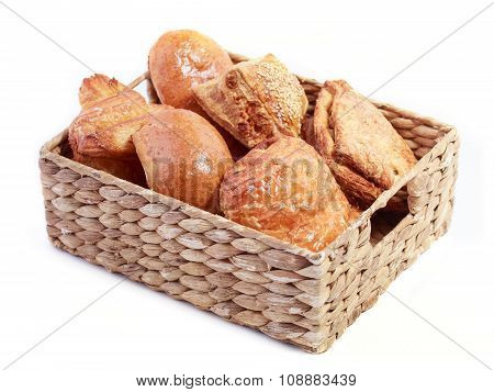buns in a basket
