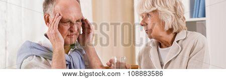 Elderly Man With Headache