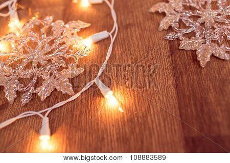 Christmas garland lights