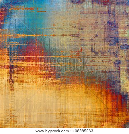 Grunge retro vintage textured background. With different color patterns: yellow (beige); brown; blue; red (orange)