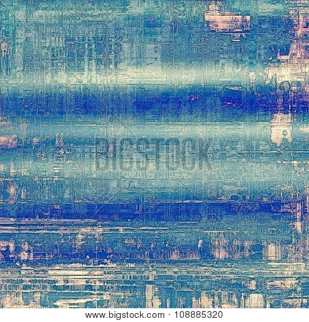 Textured old pattern as background. With different color patterns: blue; cyan; gray; white