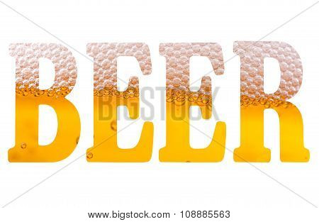 High Resolution Text With Word Beer