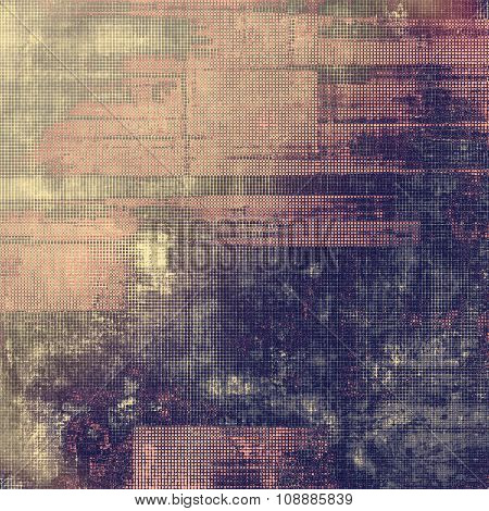 Vintage antique textured background. With different color patterns: brown; purple (violet); gray; pink