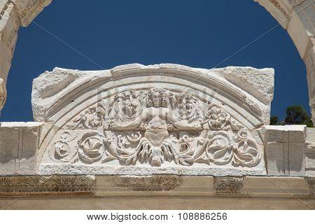 Temple Of Hadrian In Ephesus Ancient City