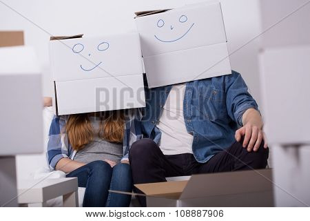 Happy Couple During Removal