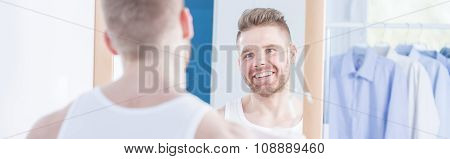 Metrosexual Man Preparing To Meeting