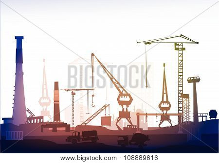Port of big City, illustration