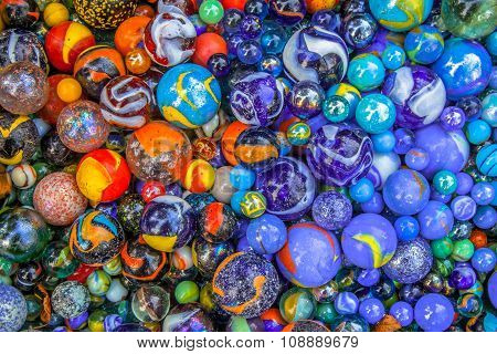 Background Of Marbles In Many Color Varieties