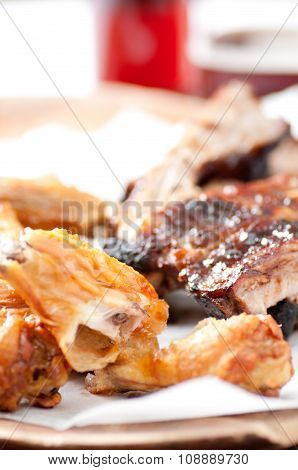 Chicken Wings And Pork Ribs