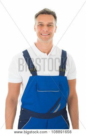 Portrait Of Happy Mature Janitor