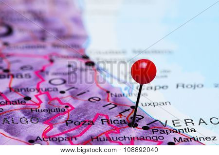 Poza Pica pinned on a map of Mexico