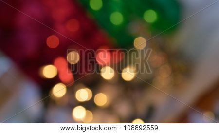 Joyful Christmas Lights, Bokeh Background