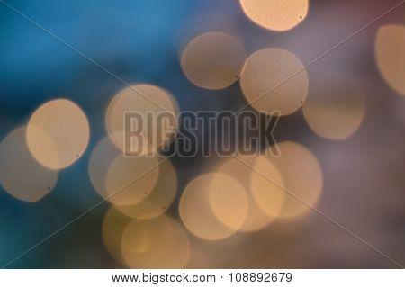 Peaceful Blue Lights Blurred