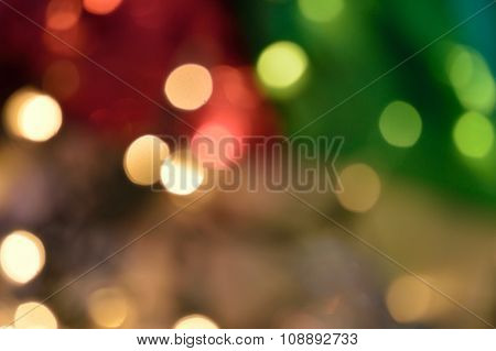 Glowing Lights Under The Tree - Defocused
