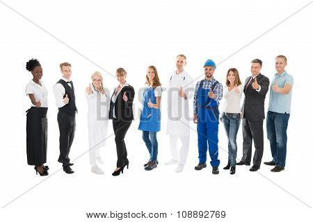 Portrait Of People With Various Occupations