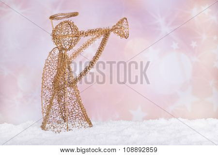 Gold Holiday Angel