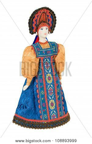 Old Russian Traditional Folk Doll