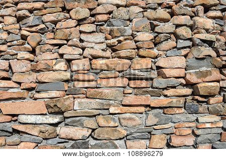 Rough Brown Stones Wall Background