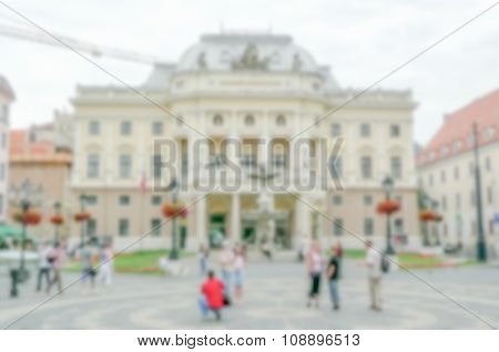 Defocused Background With Slovak National Opera Theatre, Bratislava