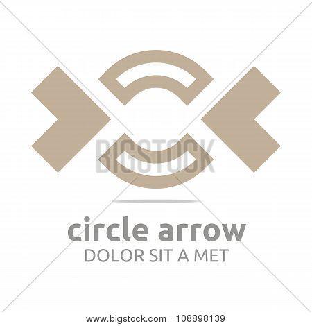 Design Logo Circle Arrow
