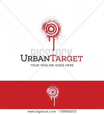 logo of spray painted target