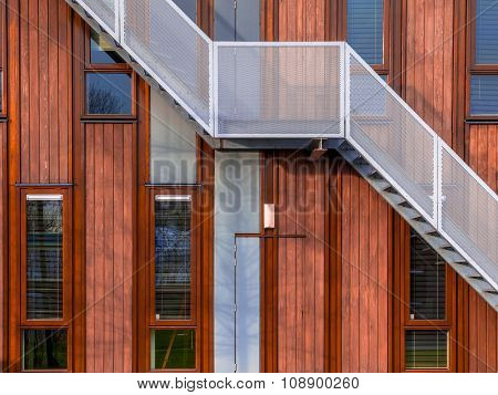 Modern Wooden Building